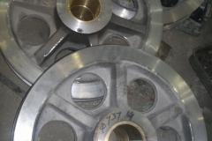 Рабочее колесо с запрессованной бронзовой втулкой