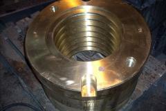Гайка 2-153639 БрАЖ9-3Л, вес 535 кгб металлургическое оборудование, габаритные размеры 600/328 x 400