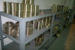 Стеллажи для хранения готовой продукции. Запасные части изготовленные по чертежам из бронзового литья.