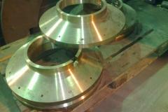 Запасная часть, полученная методом центробежного литья из бронзы
